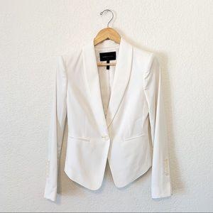 BCBGMAXAZRIA Off White Bowie Tuxedo Blazer size S